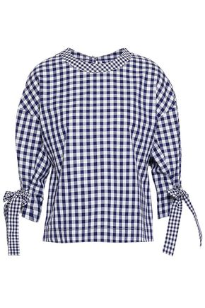 ROSETTA GETTY Gingham cotton top