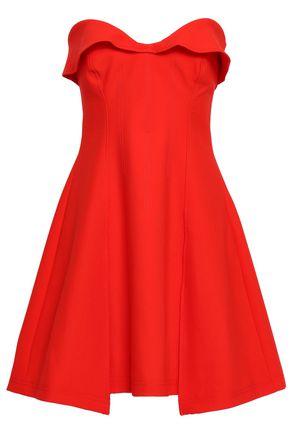CINQ À SEPT Strapless flared cady mini dress