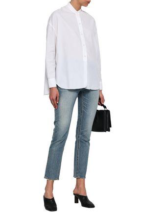 VINCE. Cotton and silk-blend shirt