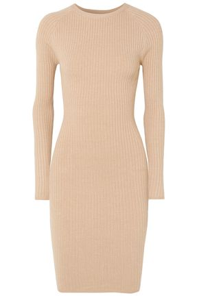 VICTOR GLEMAUD Cutout ribbed cotton-blend mini dress
