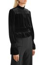 FRAME Shirred velvet turtleneck top
