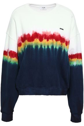 RE/DONE by LEVI'S Tie-dye French cotton-terry sweatshirt