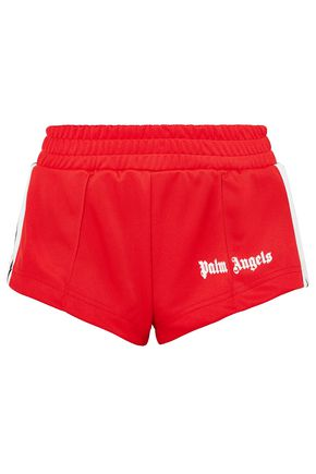 PALM ANGELS Flocked shell shorts