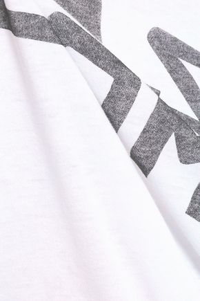 RE/DONE Printed stretch-cotton jersey T-shirt