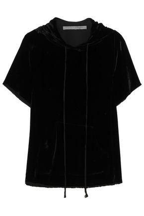 RAQUEL ALLEGRA Velvet hooded top