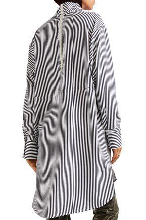 BASSIKE Striped poplin turtleneck tunic