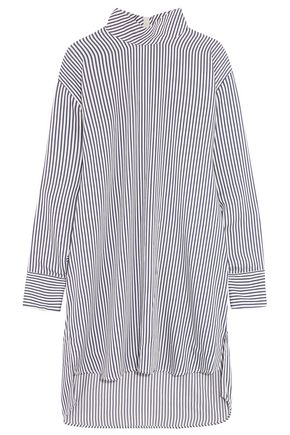 BASSIKE Striped poplin turtleneck tunic