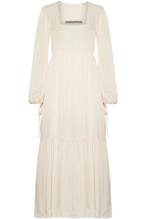 RAQUEL ALLEGRA Gathered satin maxi dress