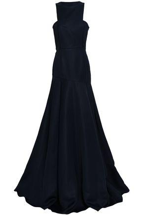SAFIYAA Flared duchesse-satin gown