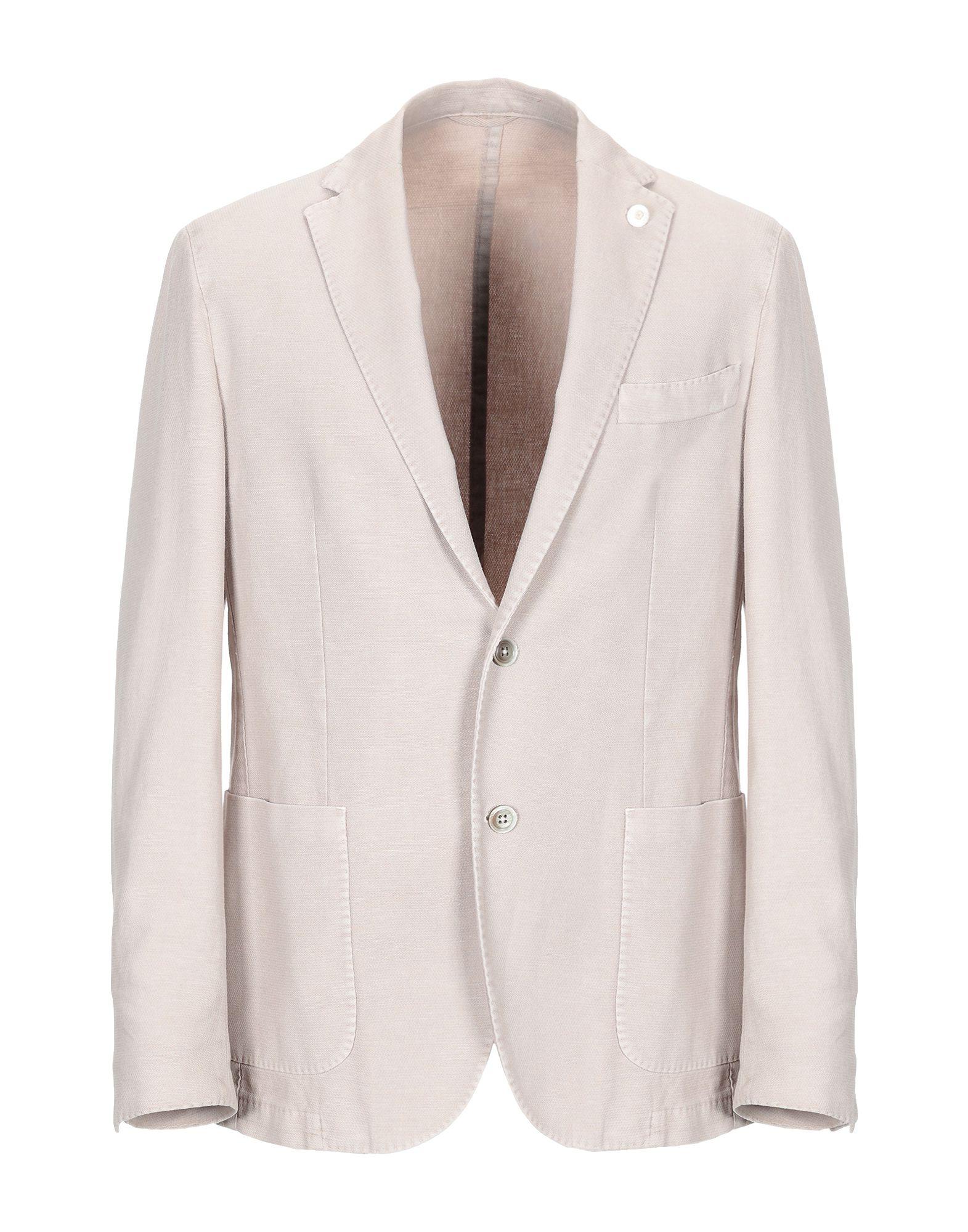 《期間限定セール中》LUIGI BIANCHI ROUGH メンズ テーラードジャケット ベージュ 52 コットン 76% / 麻 24%