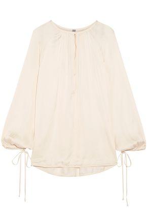 RAQUEL ALLEGRA Dreamer gathered sateen blouse