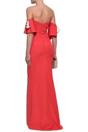 SAFIYAA Off-the-shoulder crepe gown