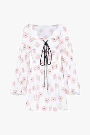 CAROLINE CONSTAS Olympia fil coupé cotton-blend mini dress