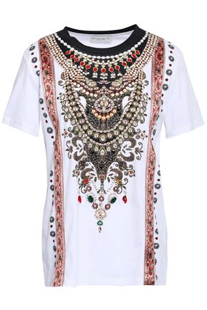 ETRO Embellished printed cotton-jersey T-shirt