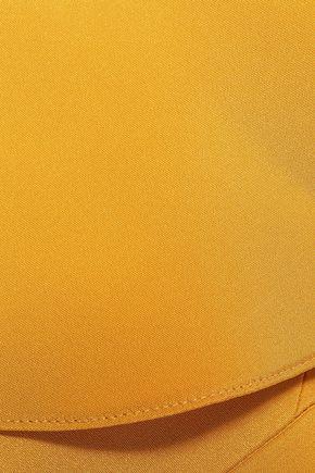 CUSHNIE One-shoulder cutout silk crepe de chine gown