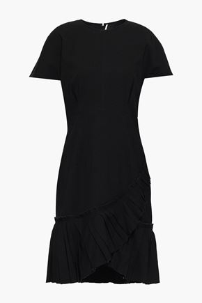 ISABEL MARANT Layered linen-blend mini dress