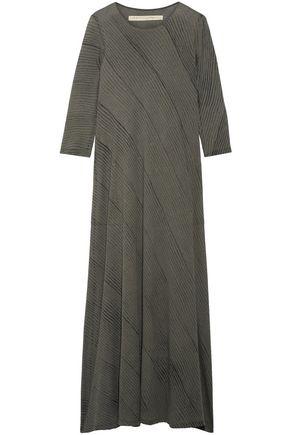 RAQUEL ALLEGRA Drama printed cotton-blend jersey maxi dress
