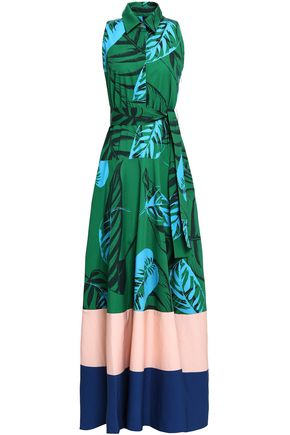 BORGO DE NOR Printed cotton-poplin maxi dress