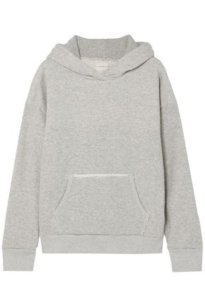 SIMON MILLER French cotton-terry hooded sweatshirt