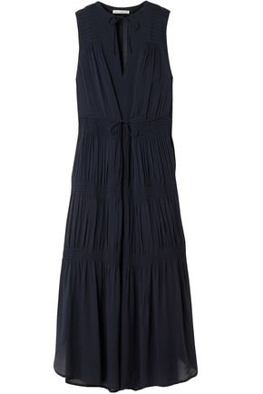 JAMES PERSE Tiered gathered mousseline midi dress