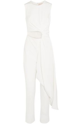 3608d75a8bfe ROKSANDA Thurloe draped cutout jersey and crepe jumpsuit