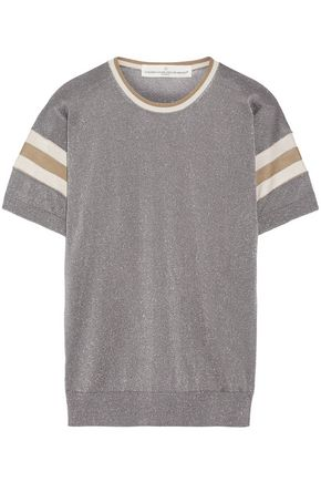 GOLDEN GOOSE DELUXE BRAND Metallic intarsia-knit top