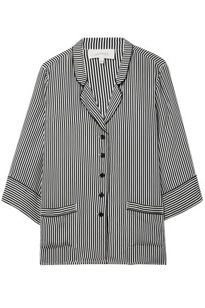 THE GREAT. Striped silk shirt