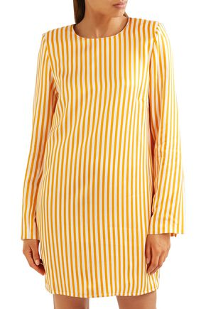 MAGGIE MARILYN Striped twill mini dress