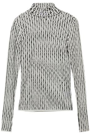 BEAUFILLE Open-knit turtleneck top