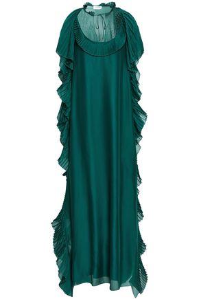 ZUHAIR MURAD Lace-trimmed ruffled chiffon gown