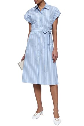 25b08debf Belted striped poplin shirt dress | ROSETTA GETTY | Sale up to 70 ...