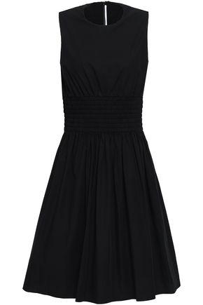 ROSETTA GETTY Flared cotton-poplin dress