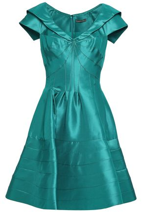 ZAC POSEN Flared duchesse silk-satin dress