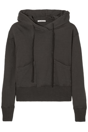 JAMES PERSE French cotton-terry hooded sweatshirt