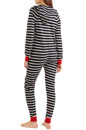 CHINTI AND PARKER Striped cashmere hooded jumpsuit