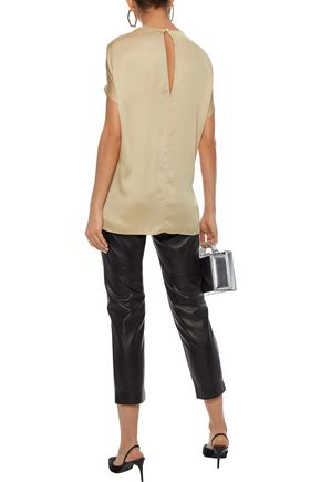 BY MALENE BIRGER Roselot gathered silk-blend satin tunic