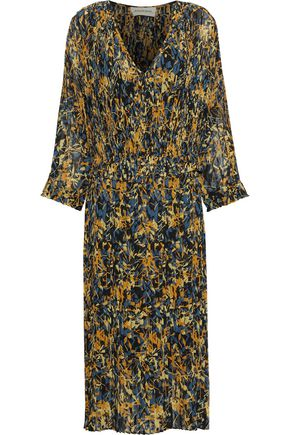 BY MALENE BIRGER Otter pleated floral-print chiffon midi dress