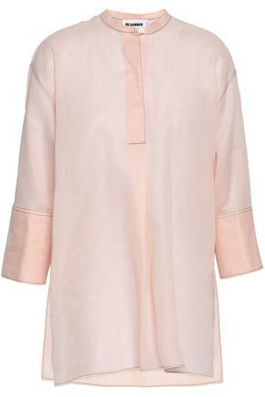 JIL SANDER Cotton-organza shirt