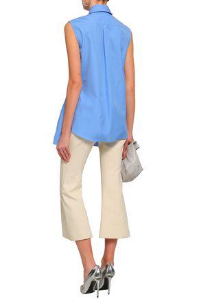 JIL SANDER Asymmetric cotton-poplin peplum shirt