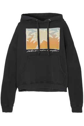 RE/DONE Oversized printed cotton-jersey hooded sweatshirt