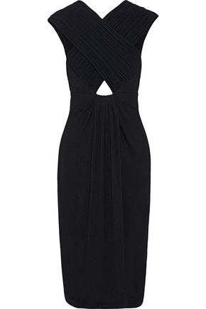 PROENZA SCHOULER Cutout ruched crepe dress