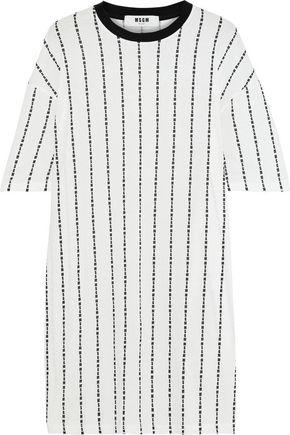 MSGM Printed cotton-jersey mini dress