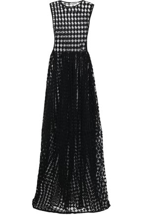 JIL SANDER Crochet-knit cotton-blend gown