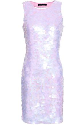 W118 by WALTER BAKER Cutout sequined gauze mini dress