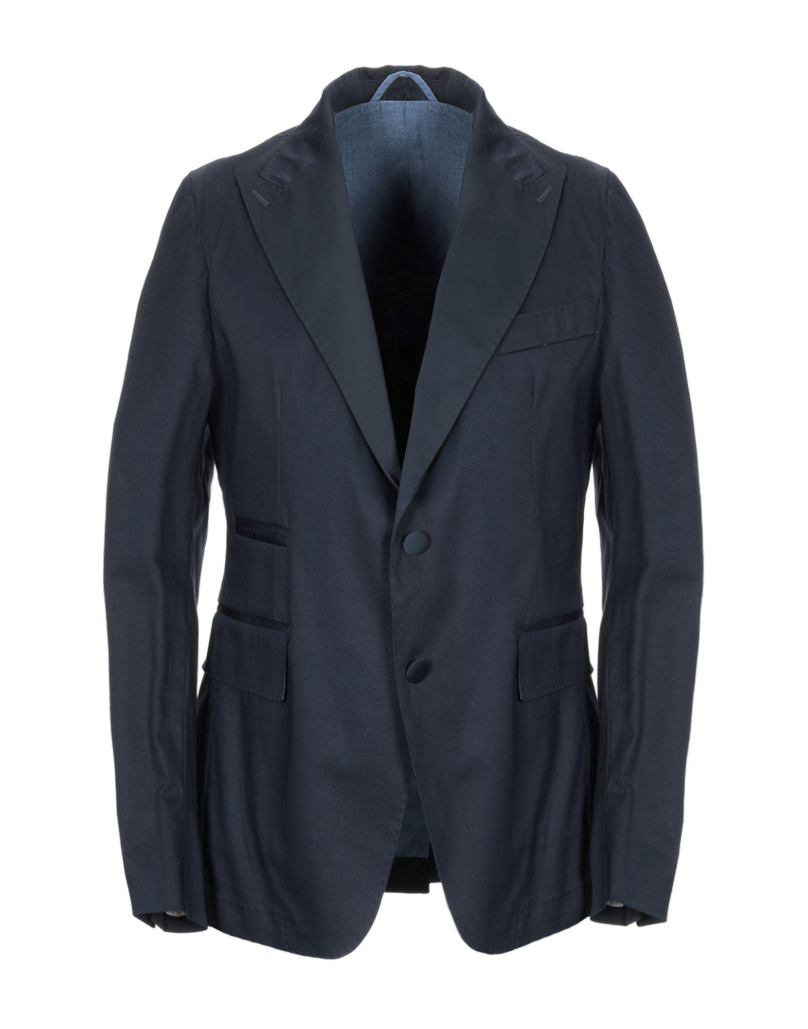 《期間限定セール開催中!》JOHN SHEEP メンズ テーラードジャケット ダークブルー 46 コットン 98% / ポリウレタン 2%