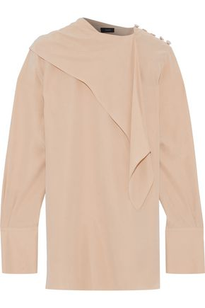 JOSEPH Draped washed-silk blouse