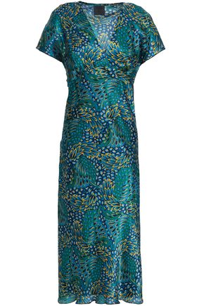 ANNA SUI Floral-print silk-gauze midi dress