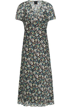 ANNA SUI Floral-print silk-georgette midi dress