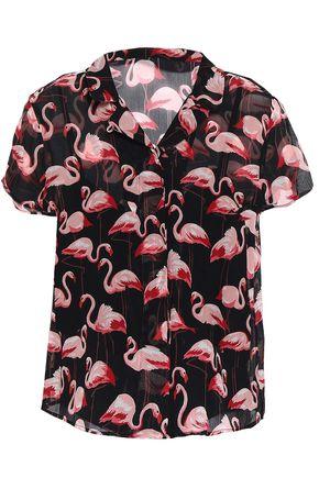 REDValentino Printed silk-georgette shirt