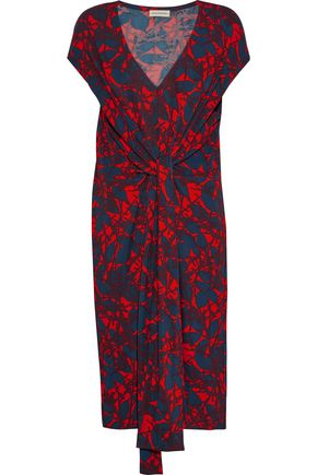 BY MALENE BIRGER Quinnas tie-front printed jersey dress